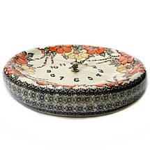 Часы настенные круглые керамические 24 Мальвы, фото 3