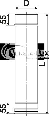 Труба дымоходная 0,3 м нерж. ø220 мм (толщина 0,6 мм), фото 2