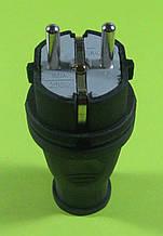 Вилка електрична ALFA 16 А з заземленням 220В 16А (чорна)