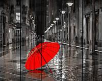 """Картина по номерам на дереве. Rainbow Art """"Красный зонтик"""" GXT22094-RA"""