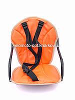 Велокресло детское, на прямую раму, металлическая основа Оранжевый