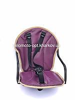 Велокресло детское, на прямую раму, металлическая основа Фиолетовый