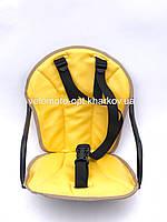 Велокресло детское, на прямую раму, металлическая основа Желтый