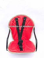 Велокресло детское, на прямую раму, металлическая основа Красный