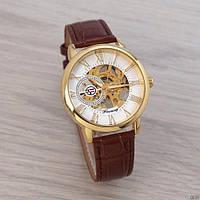 Часы Forsining 8099 Brown-Gold-White SKL39-225946