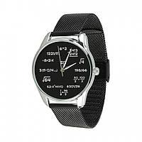 Часы Ziz Математика, ремешок из нержавеющей стали черный и дополнительный ремешок SKL22-142791