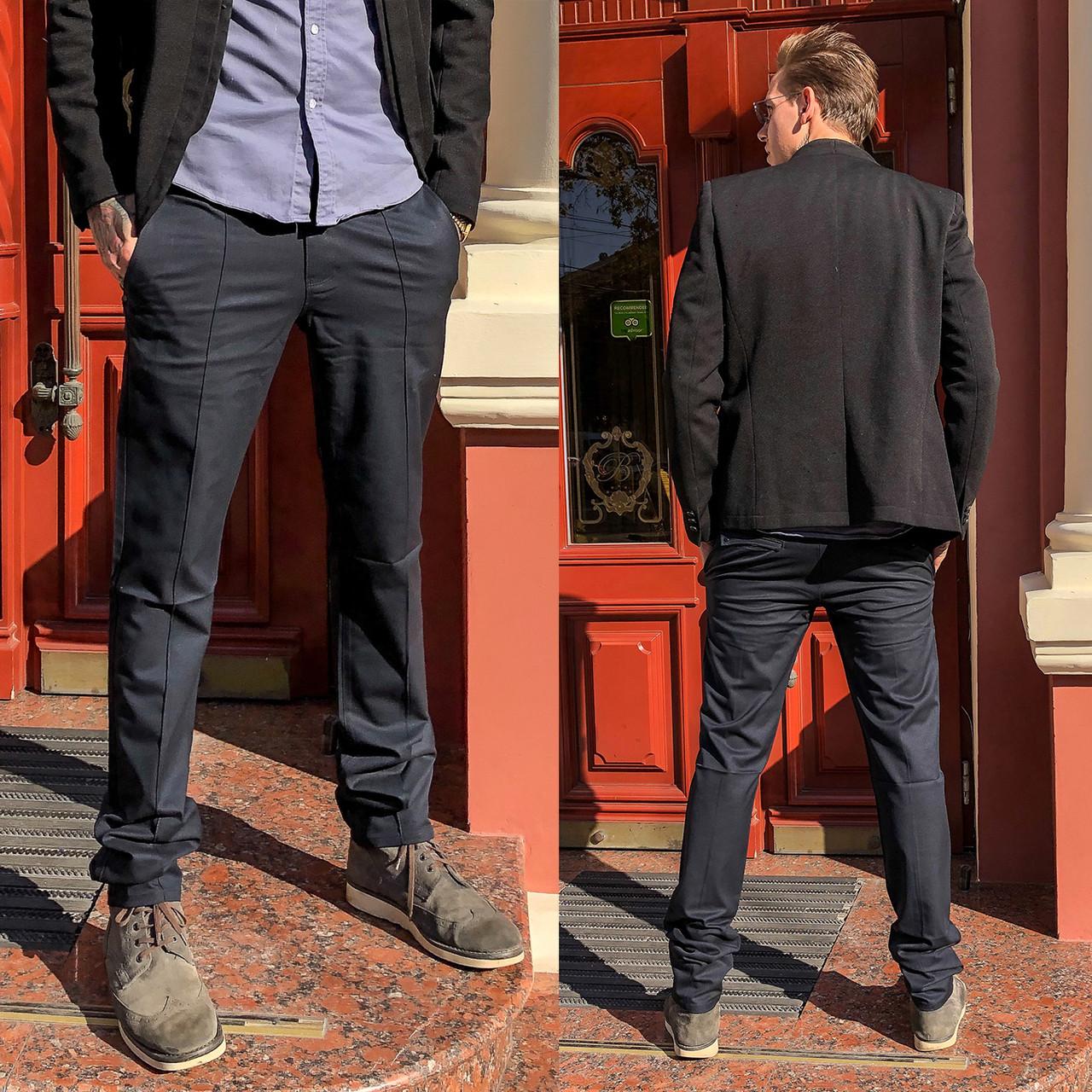 7751-H218 Prodigy брюки мужские полубатальные темно-серые весенние стрейчевые (32-38, 7 ед.)