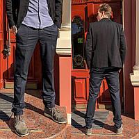 7751-H218 Prodigy брюки мужские полубатальные темно-серые весенние стрейчевые (32-38, 7 ед.), фото 1