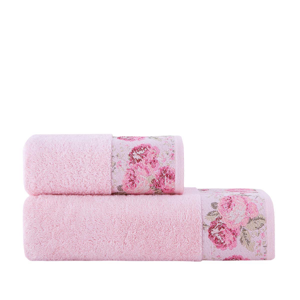 Полотенце для тела Arya Desima 70*140 см махровое банное розовое арт.TR1002517