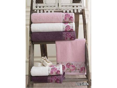 Полотенце для тела Arya Desima 70*140 см махровое банное розовое арт.TR1002517, фото 2