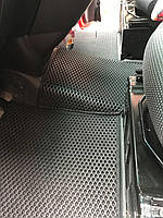 Mercedes Vito W639 2004-2015 гг. Полиуретановые коврики (EVA, черные) 1+1