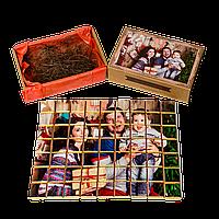 63 плитки экстрачерного шоколада с фото «крафт пазл»