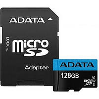 Карта памяті MicroSDHC 128 Gb class 10 ADATA UHS-I remier A1 + SD adapter AUSDX128GUICL10A1-RA1