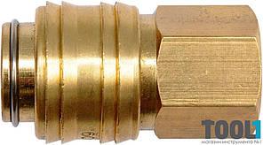 Латунное быстросъёмное соединение с внутренней резьбой 3/8'' Yato YT-24093