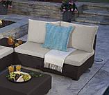 Диван садовий Allibert Sapporo 2 Sofa з штучного ротанга, фото 8
