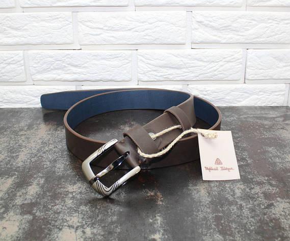 Джинсовый ремень коричневый 6606, фото 2