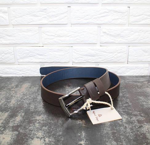 Джинсовый ремень коричневый 6608, фото 2