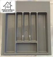 Лоток-вкладыш для столовых приборов 44*49*6.5 серый, фото 1