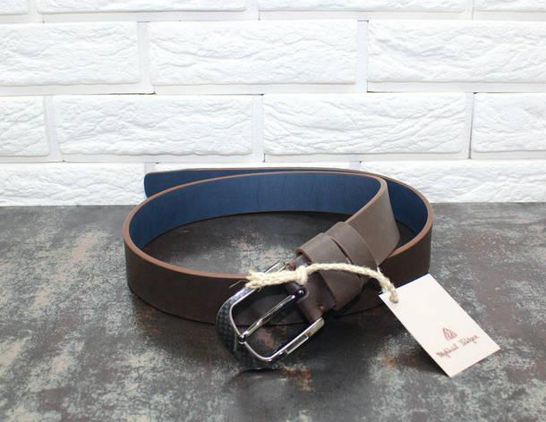 Джинсовый ремень коричневый 6568, фото 2