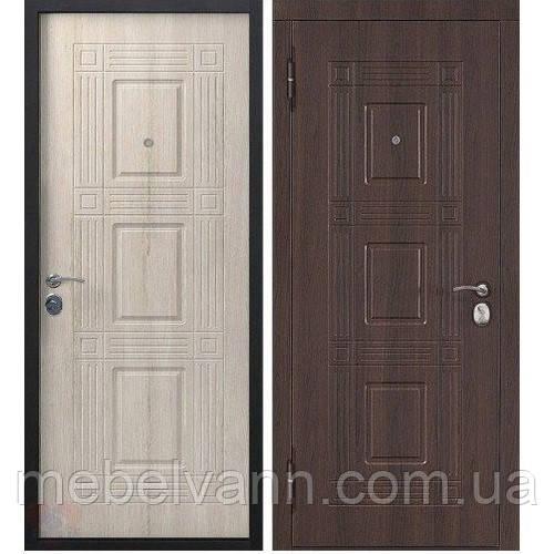 Вхідні двері Вікторія 55мм Темний кипарис/ Модрина мокко
