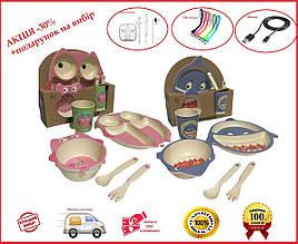 Набор детской бамбуковой посуды 5в1 EL246/4