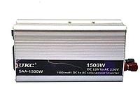 Преобразователь напряжения инвертор UKC SAA 1500W 12V-220V Silver