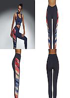 Женский костюм для фитнеса Bas Bleu Rainbow L Темно-синий с красным