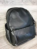 Рюкзак женский кожаный чёрного цвета