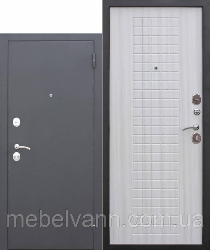 Входная дверь Гарда муар 60мм Венге/Белый ясень