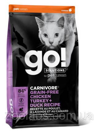 Корм Go! для кошек и котят 4 мяса | Go Natural Holistic Fit Free Grain Free Chicken Turkey Duck 7,26 кг, фото 2