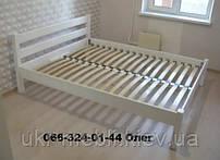 Ліжко двоспальне дерев'яне Мілан 160*200, вільха масив