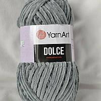 Плюшевая пряжа Yarnart Dolce, 760, серый