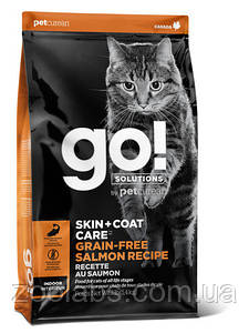 Корм Go! для кошек и котят с лососем | Go Natural Holistic Skin Coat Care Grain Free Salmon 7,26 кг