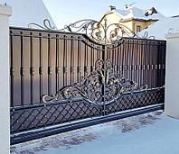 Откатные автоматические ворота под любую зашивку, а так же с элементами ковки (работаем по всей Украине)