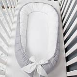 Кокон гнездышко, бейбинест, кроватка для новорожденного, люлька, бортики мягкие в кровать детскую, фото 4