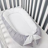 Кокон гнездышко, бейбинест, кроватка для новорожденного, люлька, бортики мягкие в кровать детскую, фото 2