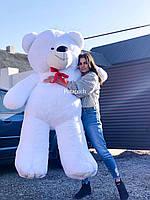 Большой плюшевый мишка, медведь Ветли 180см белый
