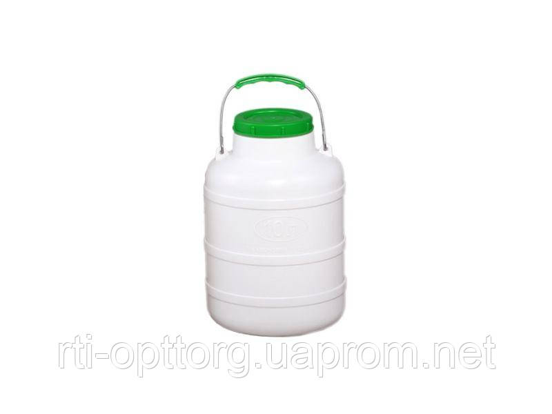 Фляга пластиковая пищевая 10л, горловина 104мм