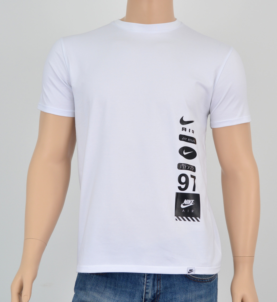 """Мужская футболка """"Премиум"""" Nike(реплика) Белый"""