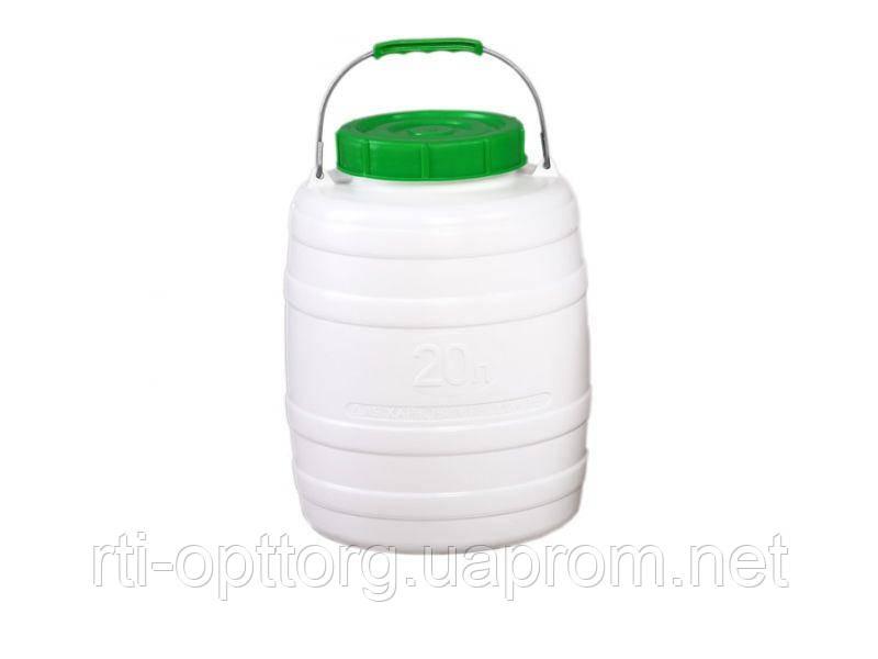 Фляга пластмассовая для питьевой воды 20л, горловина 156мм