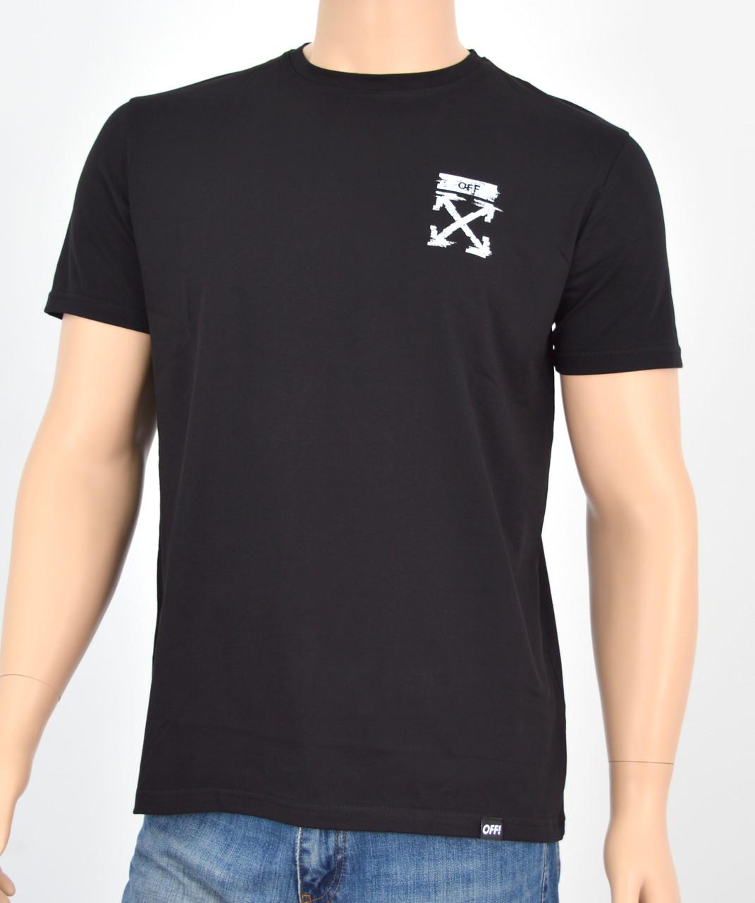 """Мужская футболка """"Премиум"""" OFF Черный"""