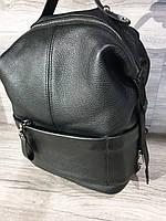 Рюкзак женский чёрного цвета кожаный
