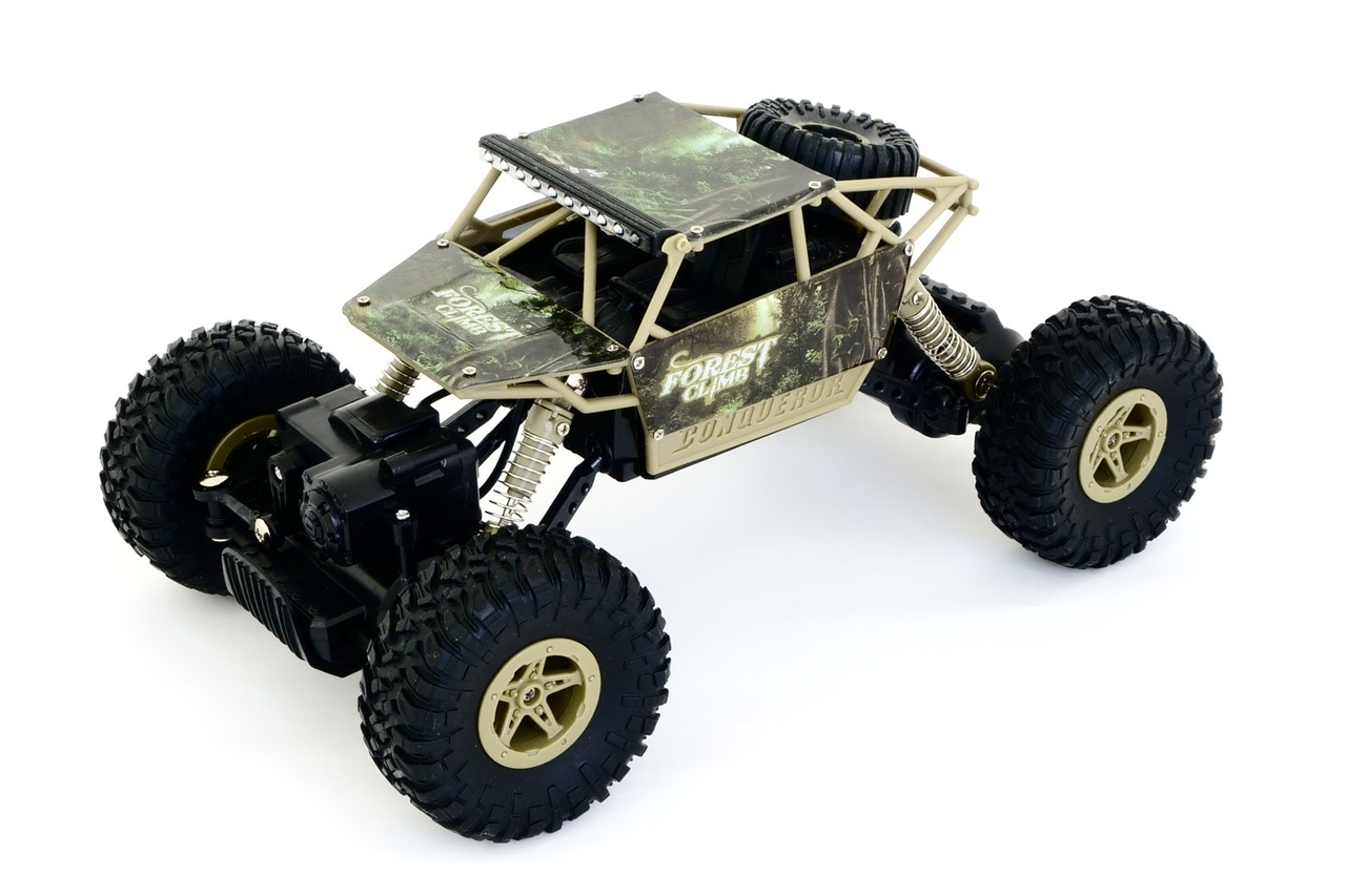 Машинка на радиоуправлении 1:18 HB Toys Краулер 4WD на аккумуляторе (зеленый)