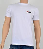 """Мужская футболка """"Премиум"""" Fila(реплика) Белый, фото 1"""