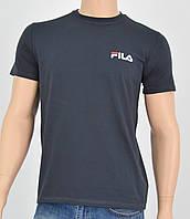 "Мужская футболка ""Премиум"" Fila(реплика) Серый, фото 1"