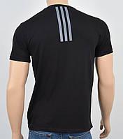 """Мужская футболка """"Премиум"""" Adidas(реплика) Спинка Черный, фото 1"""