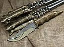 """Подарочный набор для шашлыка """"Царский улов"""" (шампура, рюмки, нож, вилка), в буковом кейсе, фото 3"""
