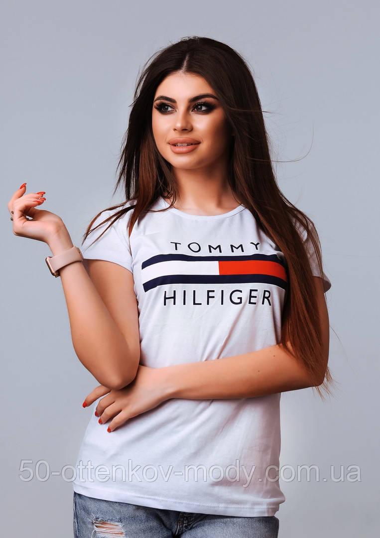 Жіноча стильна турецька футболка Ф21 в кольорах