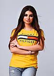 Жіноча стильна турецька футболка Ф21 в кольорах, фото 3