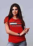 Жіноча стильна турецька футболка Ф21 в кольорах, фото 4